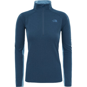 """The North Face W's Ambition 1/4 Zip Long Sleeve Shirt Ink Blue Heather/Provincial Blue"""